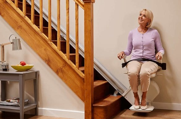130 stairlift seated 1