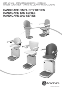 Handicare Simplicity Series Stairlift Manual